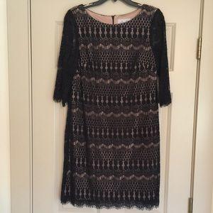 Women's Black Mid-Length Dress Sz 12 Petite